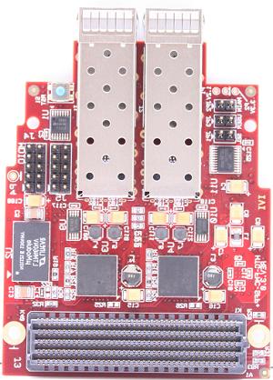基于FMC标准的8路万兆光纤子卡(FMC-QSFPP)