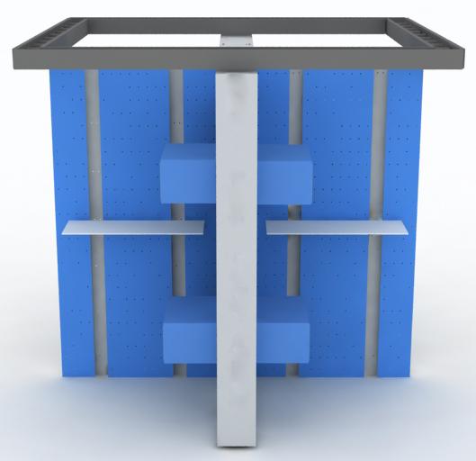 钢制模拟工程实训墙组