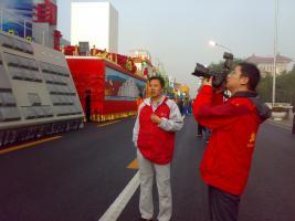 通力公司员工参与天安门国庆60周年庆典游行